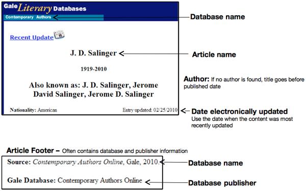 Database 171 Easybib