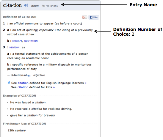 How To Cite A Quote: Dictionary « EasyBib